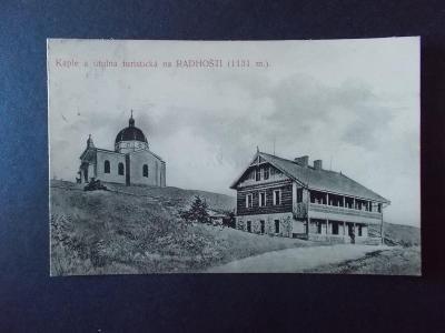 Vsetín Rožnov Radhošť Beskydy Pustevně kaple útulna razítko