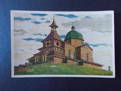 Vsetín Rožnov Radhošť Beskydy Pustevně kaple razítko