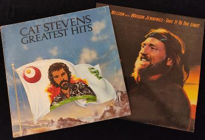 2x LP : Cat Stevens a Willie Nelson
