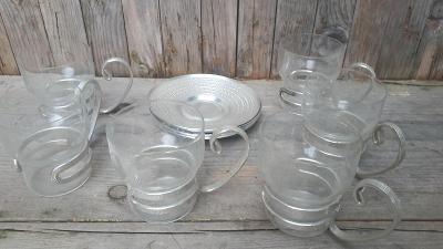 Čajová souprava, varne sklo, hliník