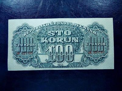 100 korun 1944 Serie AH NEPERFOROVANA LUXUSNI Stav