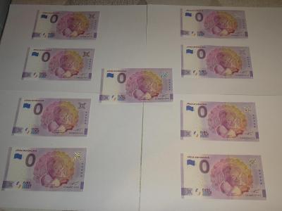 9x Bankovka Jiřina Bohdalová. Vynikající investice UNC.