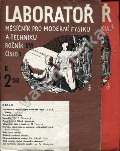 Laboratoř, r. XVI. (1942), čísla 1 a 3.