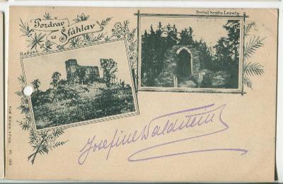 Šťáhlavy, Plzeň jih, , hrad Radyně (pošk.). Píše Jos