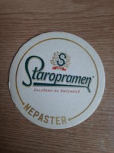 Pivní tácek- Staropramen