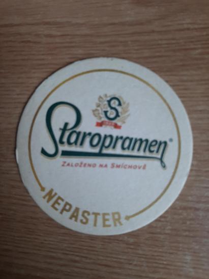 Pivní tácek- Staropramen - Nápojový průmysl