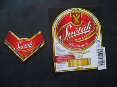 Pivní etiketa Světák nepoužitá