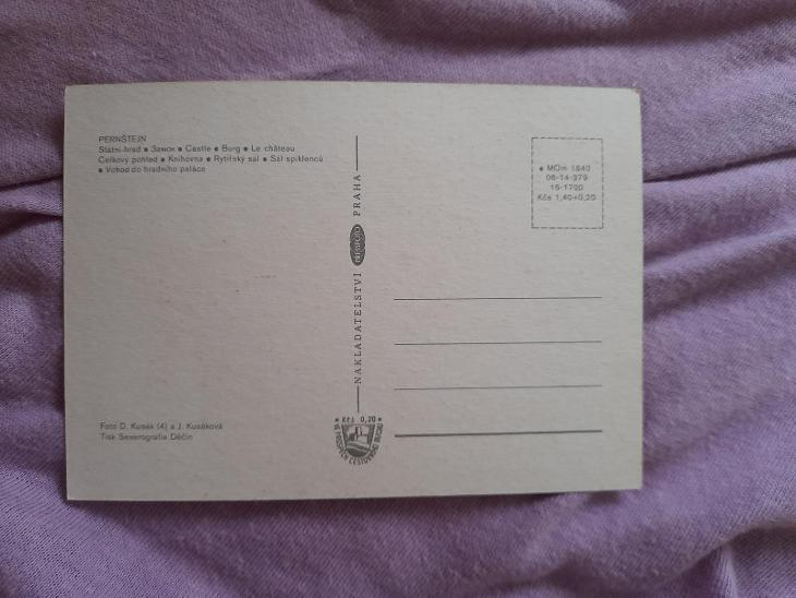 Pohlednice HRAD PERNŠTEJN,neprošlé poštou  - Pohlednice