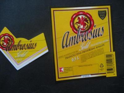 Pivní etiketa Ambrosius nepoužitá