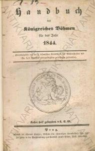 Handbuch des Königreiches Böhmen für das Jahr 1844