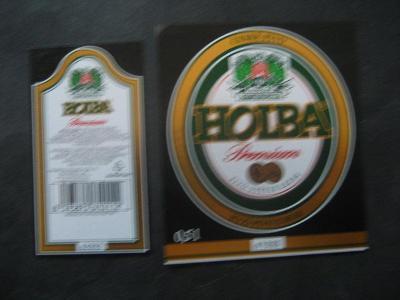 Pivní etiketa Holba nepoužitá