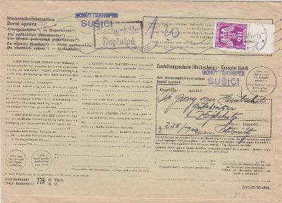 Úřední, služební, zpáteční l., Sušice (Klatovy)-Kojčice, Pelhřimov?,