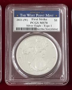 2021 typ 1 *MS70* American Eagle 1oz *FIRST STRIKE* WEST POINT