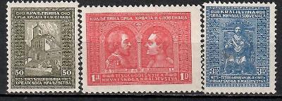 478 - Jugo 1929, Mi 222 - 4, eur 6