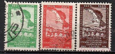 480 - Jugo 1934, Mi 272 - 4, eur 35,