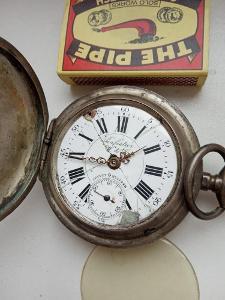 velké cibule, kapesní hodinky, Ag, Perfection Weber Dubois