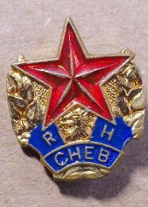 Odznaky sport kopaná Rudá hvězda Cheb