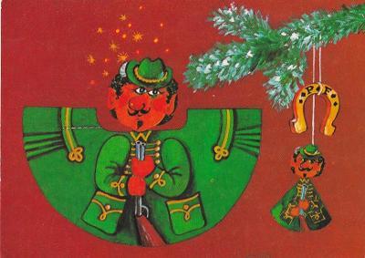 VYSTŘIHOVACÍ - vánoční ozdoba - myslivec - Trojka