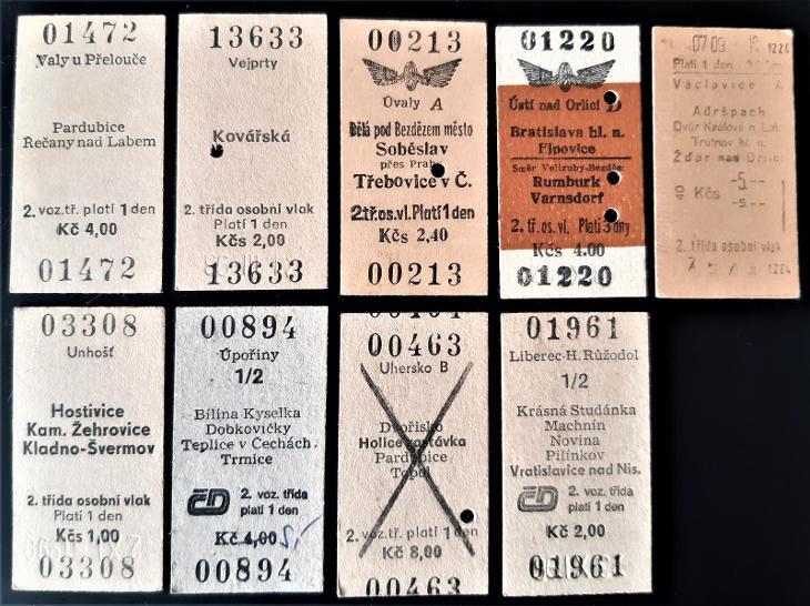69 železničních jízdenek - Ostatní