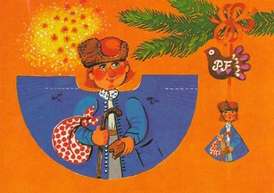 VYSTŘIHOVACÍ - vánoční ozdoba - Honza - Trojka