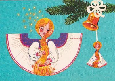 VYSTŘIHOVACÍ - vánoční ozdoba - Zlatovláska - Trojka