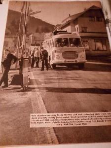 Fotografie autobusu nv česopise svět motorů 1960