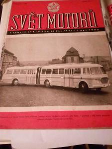Fotografie autobusu časopise svět motoru 1961