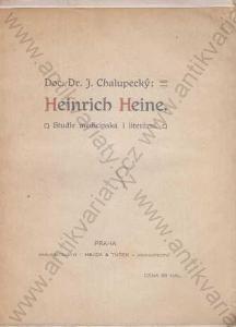 Heinrich Heine Studie medicinská i literární