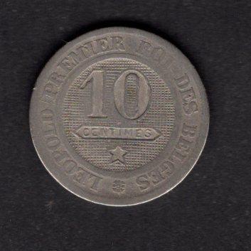 BELGIE : 10 Cent  1862