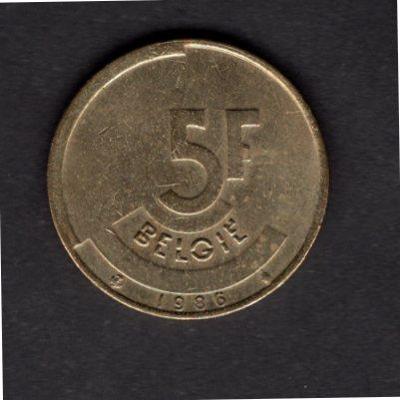 BELGIE : 5 Franků  1986