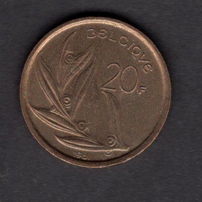 BELGIE : 20 Franků  1981