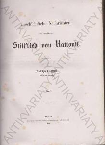 Geschichtliche nachrichten Rudolph Stillfried 1860