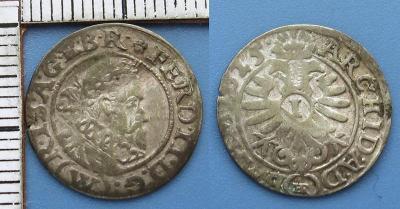 1625 - 1 krejcar, stříbro - Ferdinand II., Vratislav, Riedel