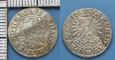 1626 - 1 krejcar, stříbro - Ferdinand II., Vratislav, Riedel