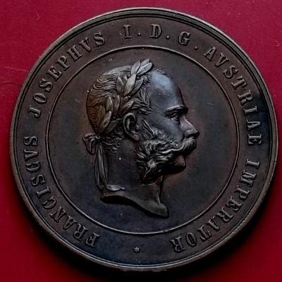 stará medaile František Josef I_Za Zásluhy Císařství Rakousko-Uhersko