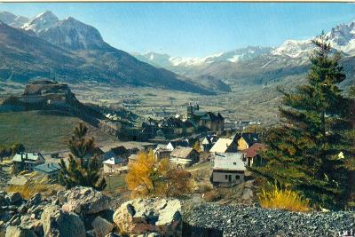 Francie, hory,  jezera, vesničky v horách, 8 ks,