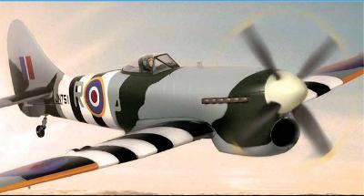 RC model letadla HAWKER TEMPEST.