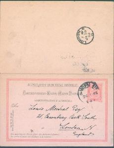 13B178 Dvojitá celina pro zahraničí Wien/ London- zachovalé