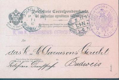 13B180 Lístek pro služební účely - Linec/ Budějovice , mutace- Kroatia