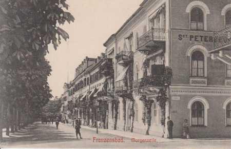 Františkovy Lázně (Franzensbad- Morgenzeile)
