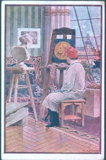 30A293    Oficiální pohlednice pro červený kříž - obraz Franze Josefa