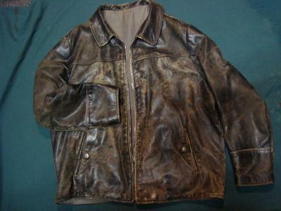 Jawa, ČZ - Kožená bunda na veterána, pěkná zachovalost, velká velikost