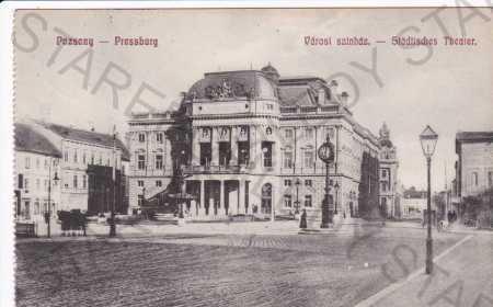Bratislava, městské divadlo, kolorovaná