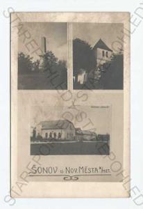 Šonov Náchod koláž více záběrů pomník