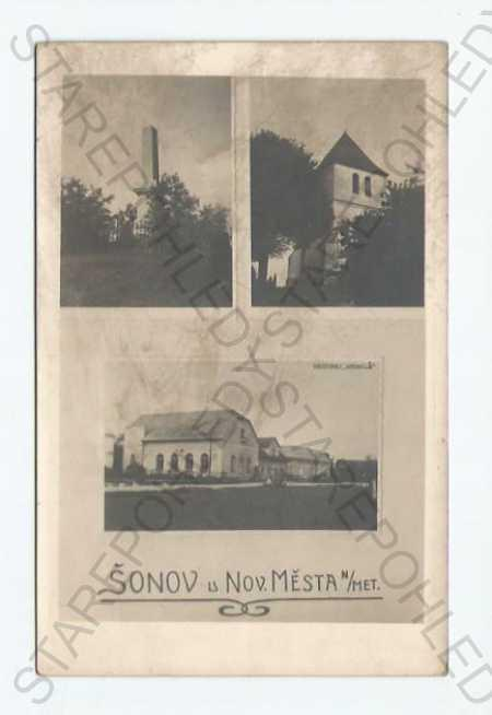 Šonov Náchod koláž více záběrů pomník - Pohlednice
