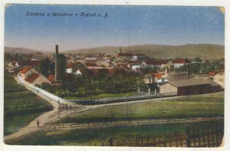 Krásno nad Bečvou - slévárna a železárna, kolorova