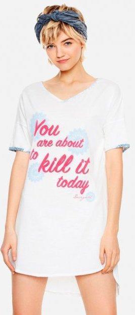 DESIGUALDRESS KILL IT TODAY/dámská STYLOVÁ  košilka-šaty-pyžamo/S