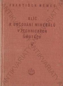 Klíč k určování minerálů v tech. hmotách 1955
