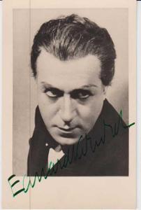 E.Kohout, divadelní herec, portrét, podepsaný