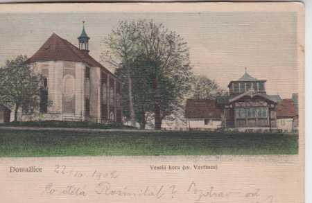 Domažlice, Veselá hora sv. Vavřince, kolorovaná
